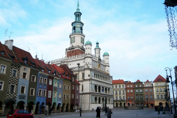 Poznan city center with Town Hall