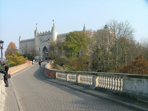 Road to Lublin Castle in Poland