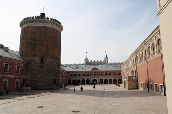 The courtyard of the Lublin Castle
