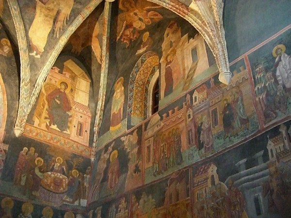 Beautiful frescoes of the Holy Trinity Chapel in Lublin