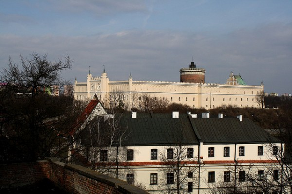 View of the Lublin Castle in Poland