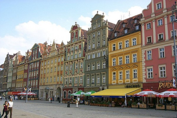 Buildings on the city square of Wroclaw