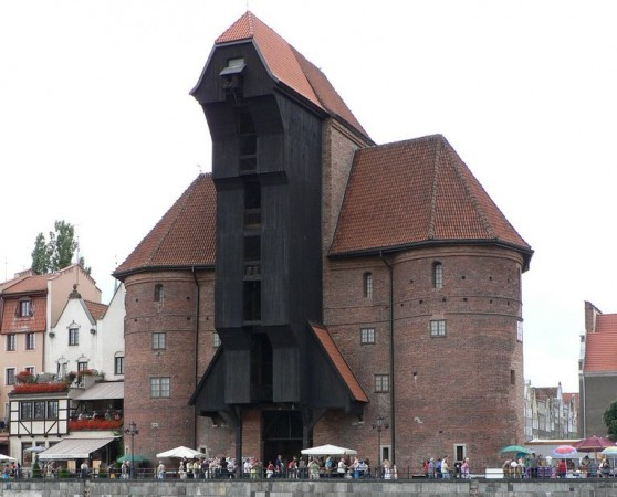 Medieval port crane in Gdansk