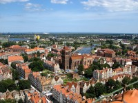 View of Gdansk from the Church of Saint Mary