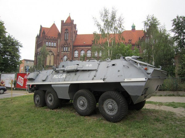 Militia Armour Vehicle at the Museum of Communism in Gdansk