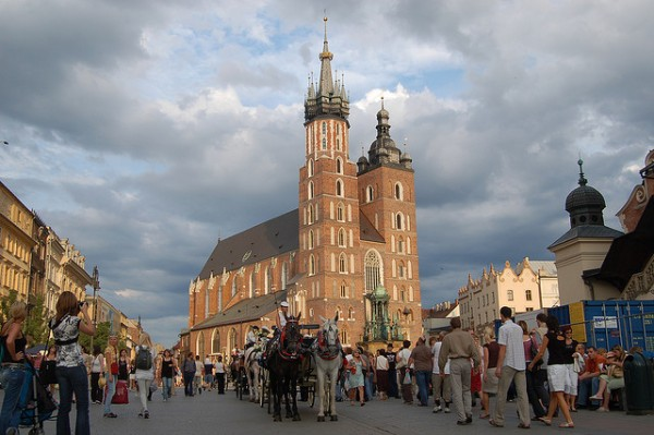 The center square of Krakow