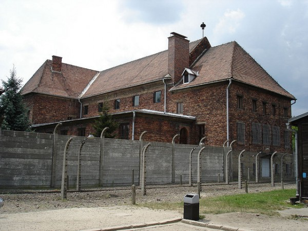 The concentration camp in Auschwitz