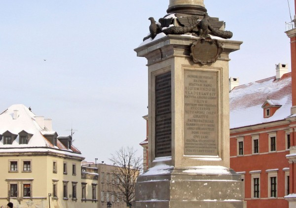 The pedestal of the Column of Sigismund in Warsaw