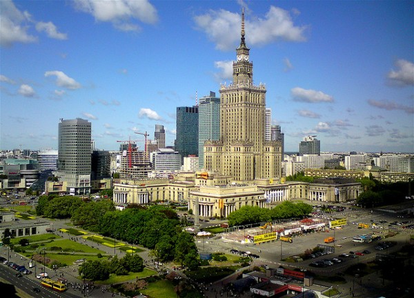 View of Warsaw with the Palace of Culture and Sciences