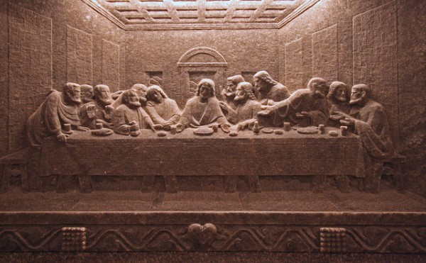 The Last Supper carved in salt