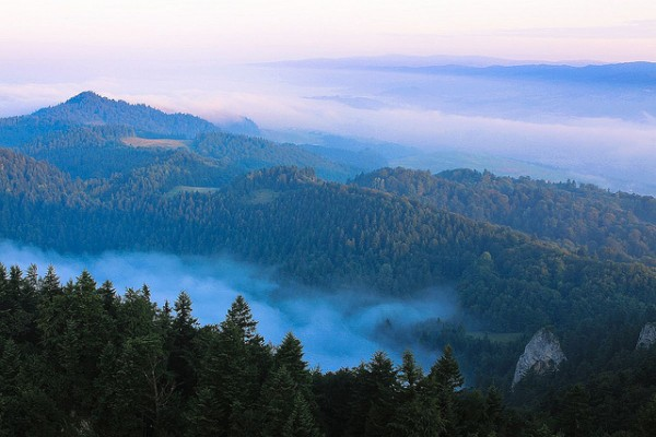 The Pieniny Mountains in Poland