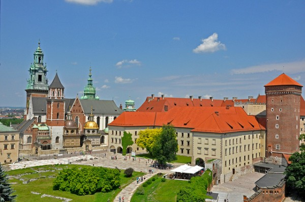 The Wawel Cathedral and the surrounding builidngs