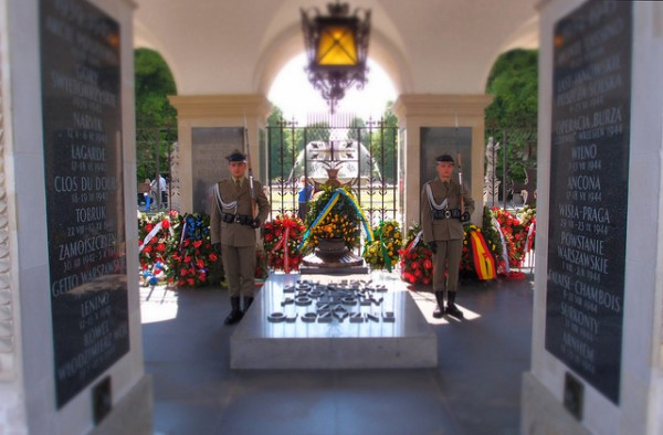 The tomb of the unknown soldier in Warsaw