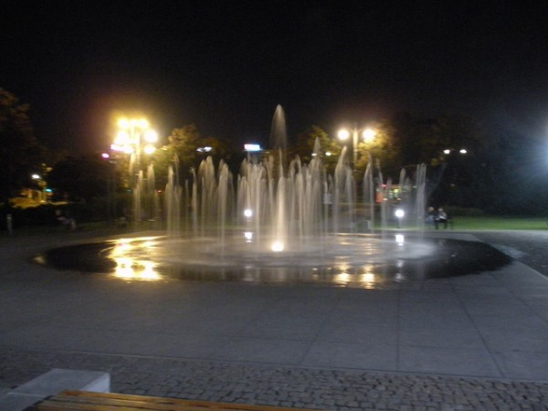 The Cosmopolis Fountain in Torun