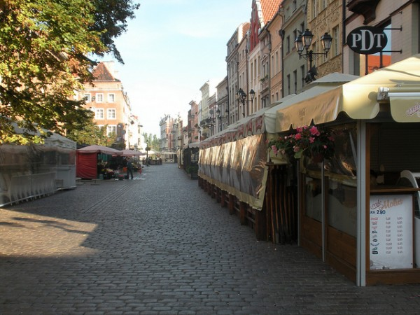 The streets of the Old Town in Torun