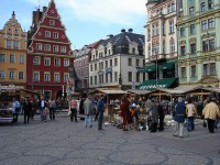 The city center of Wroclaw