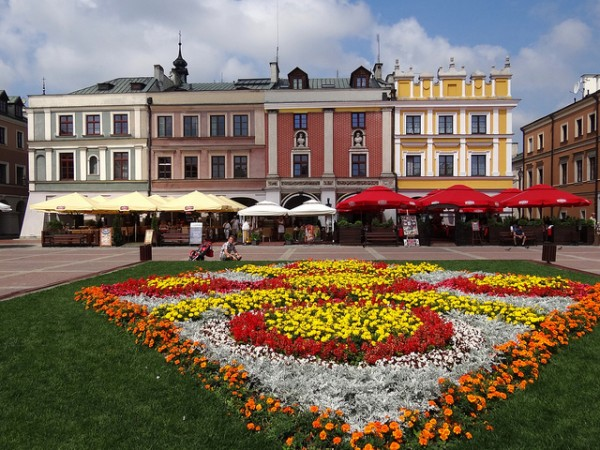 The Market Square in Zamosc
