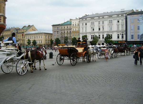 Beautiful old square in Krakow