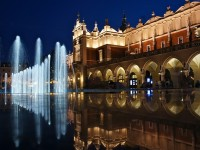 Krakow main square in Poland