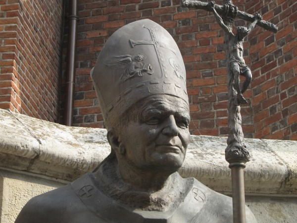 Statue of Pope John Paul II in Krakow