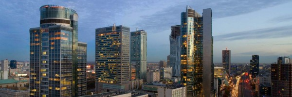 View from the Westin Hotel in Warsaw